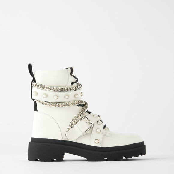Zara Shoes   Zara White Boots   Poshmark